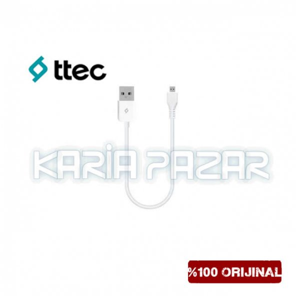 TTec Minicable Micro USB Şarj Kablosu Data Kablosu 30 CM
