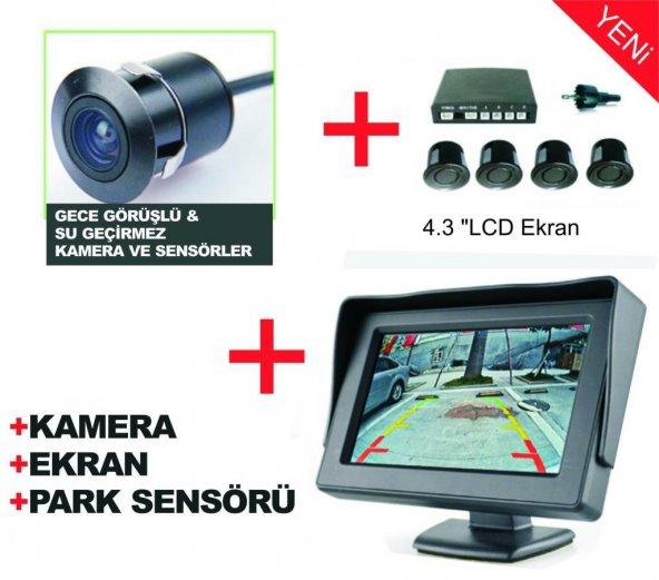Ekranlı Kameralı Ses İkazlı Park Sensörü