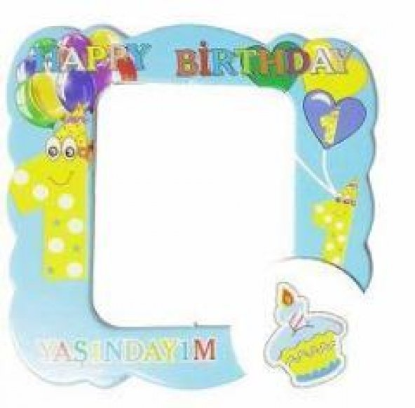 25 Adet Mavi 1 Yaş Magnet Erkek Doğum Günü Parti Malzemesi