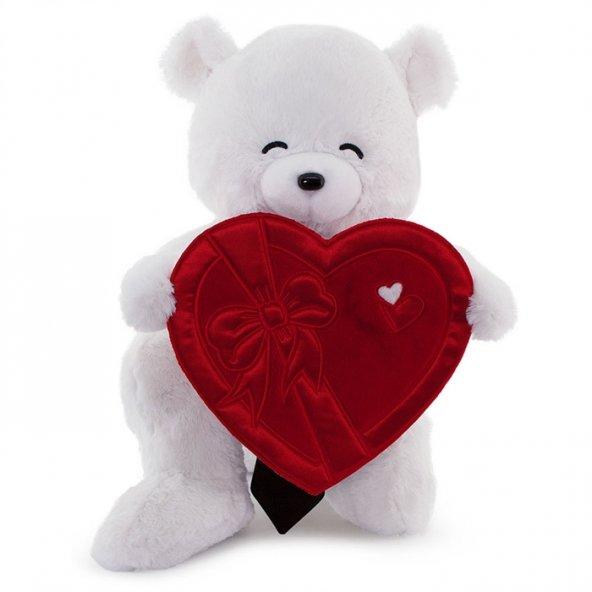 Neco Plush Sevgiliye Hediye Fluffy Kalp Kutu Flamalı Serenat Ayı