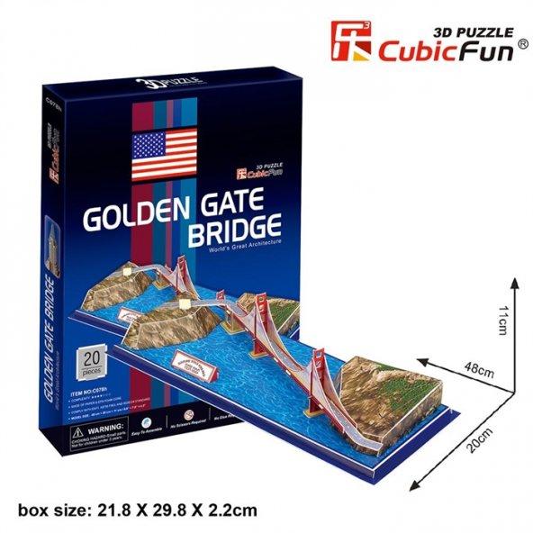 Cubic Fun 3D 20 Parça Puzzle Golden Gate Köprüsü