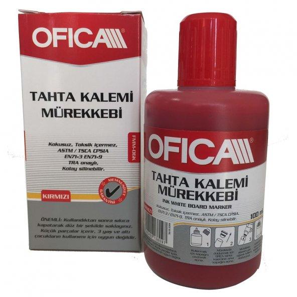 Ofica Tahta Kalemi Mürekkebi 100 ml. Kırmızı FMM-06K