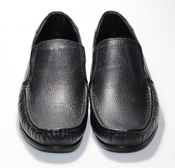 Erkek Deri Ayakkabı (Mat Siyah)