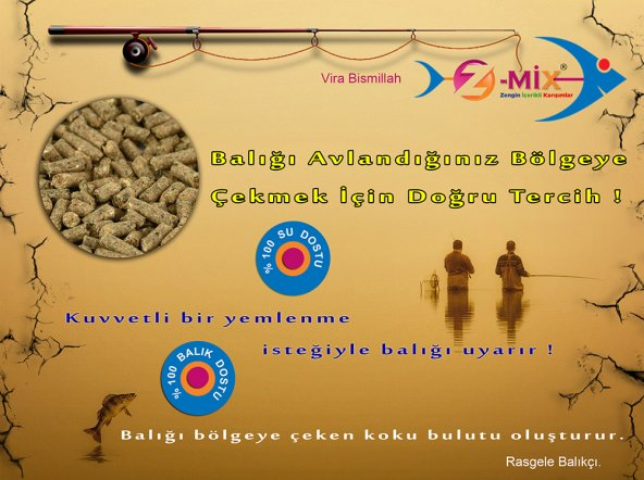 Sazan Yemleri Z-MİX FİSH HUNTİNG 1Kg
