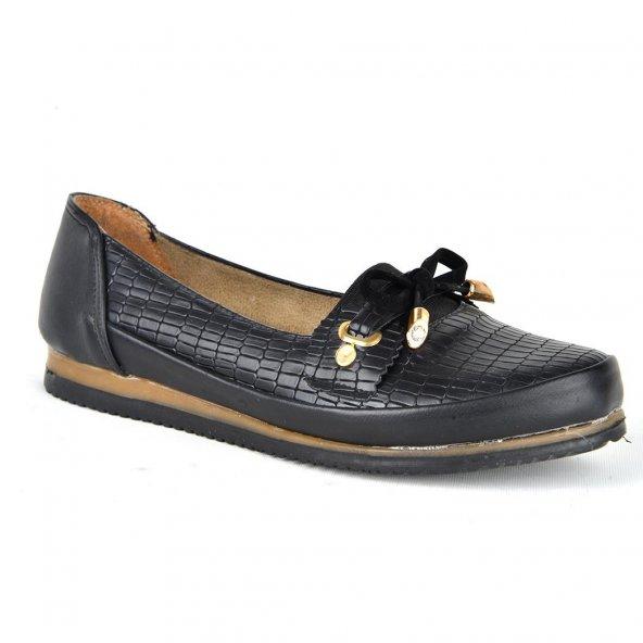 Almira Fiyonklu Ortopedik Bayan Günlük Babet Ayakkabı