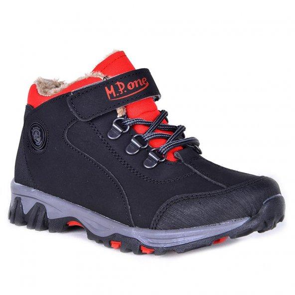 MP 172-0382 Termal Kürklü Cırtlı Erkek Çocuk Kışlık Bot Ayakkabı