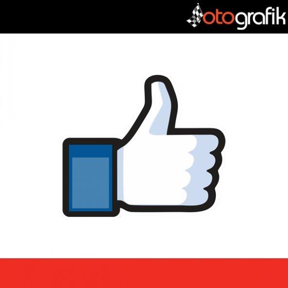 OTOGRAFİK - FACEBOOK LIKE DISLIKE RENKLİ OTO STICKER