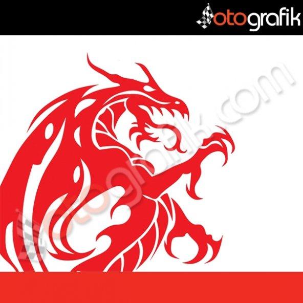 OTOGRAFİK - RED DRAGON KIZIL EJDER OTO STICKER