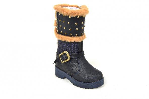 Zerolife PT 042 İçi Termal Kürk Kız Çocuk Çizme Bot Ayakkabı