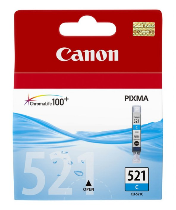 Canon CLI-521 C Mürekkep K. 2934B004