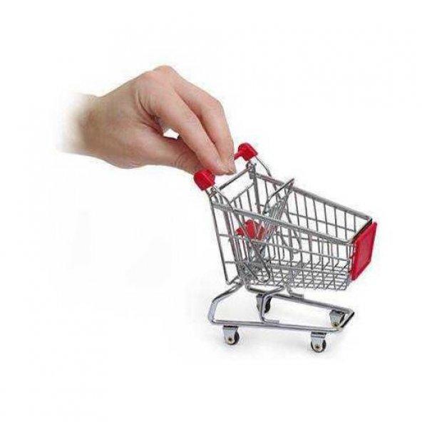 Metal Mini Alışveriş Arabası Market Arabası