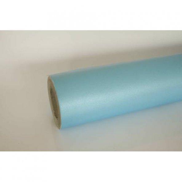 Mavi Cam Kumlama Folyosu Buzlu Görünüm Kendinden Yapışkanlı 122 CM  X 3 MT