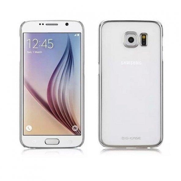 G-Case Samsung Galaxy S6 Rubber Arka Kapak Kılıf-Gold