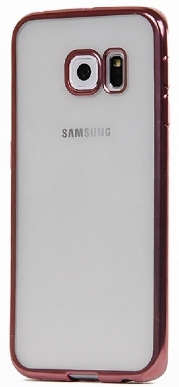 Totu Desing Samsung Galaxy S6 Edge Rose Gold Kenarlı Kılıf