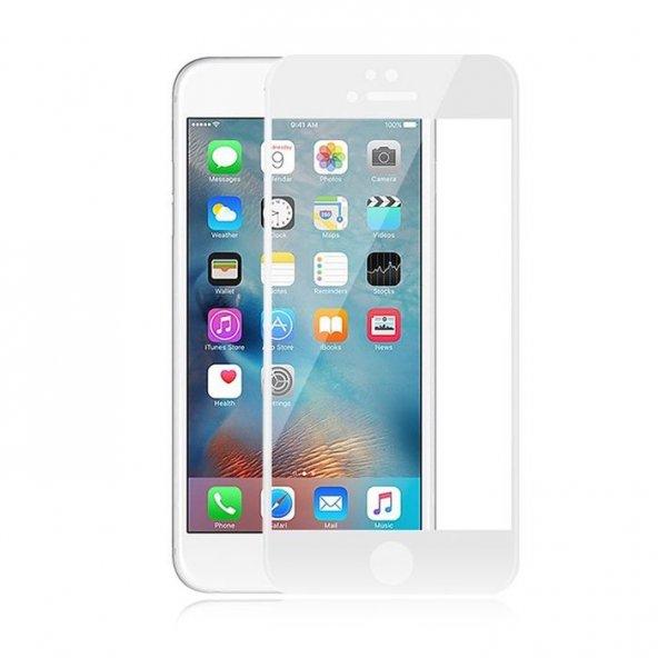 iPhone 6 6S Plus Ekran Koruyucu Beyaz İnce Cam
