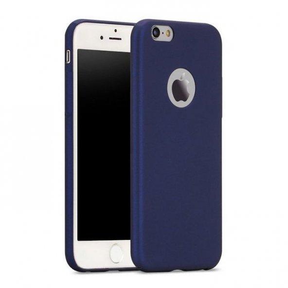 iPhone 6 6S Kılıf Soft Süet Lacivert