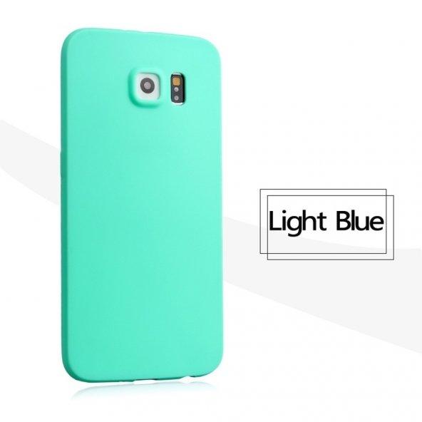 Samsung Galaxy S6 Turkuaz Renkli Silikon Kılıf