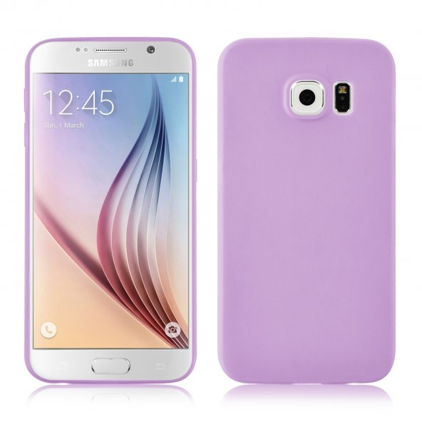 Samsung Galaxy S6 edge plus Mor Silikon Kılıf
