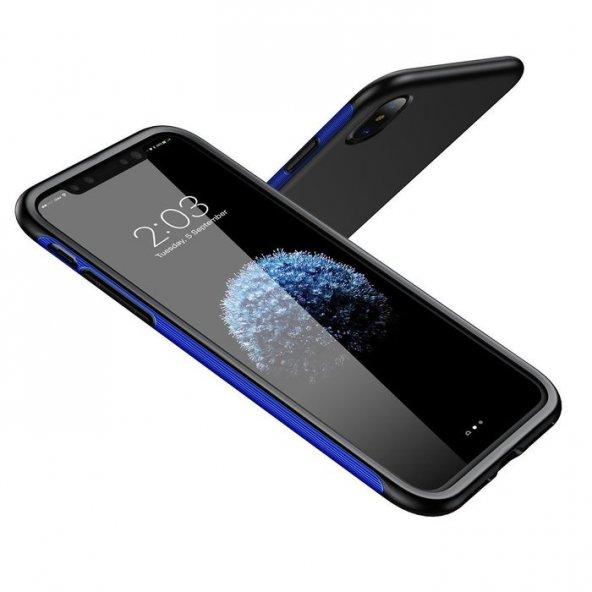 Baseus Bumper iPhone X Kılıf Mavi