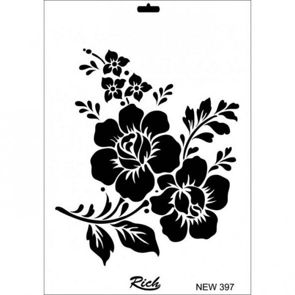 Rich New Seri N-397 Stencil 35x25 cm