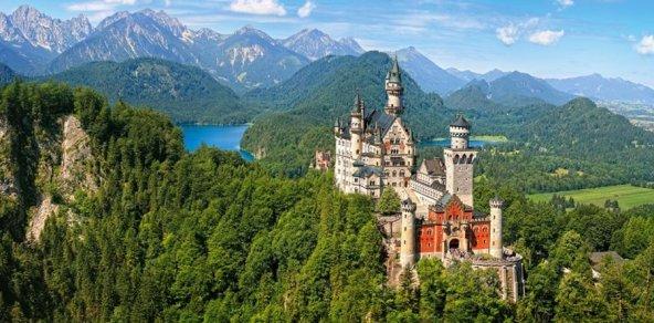Castorland 4000 Parça Neuschwanstein Kalesi Manzarası Puzzle