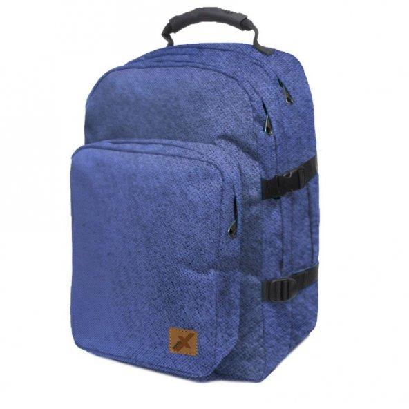 Trendix City Üç Bölmeli Lacivert Notebook - Sırt Çantası