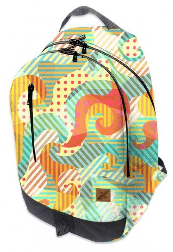 Trendix Flex Wave Desenli Sırt Çantası