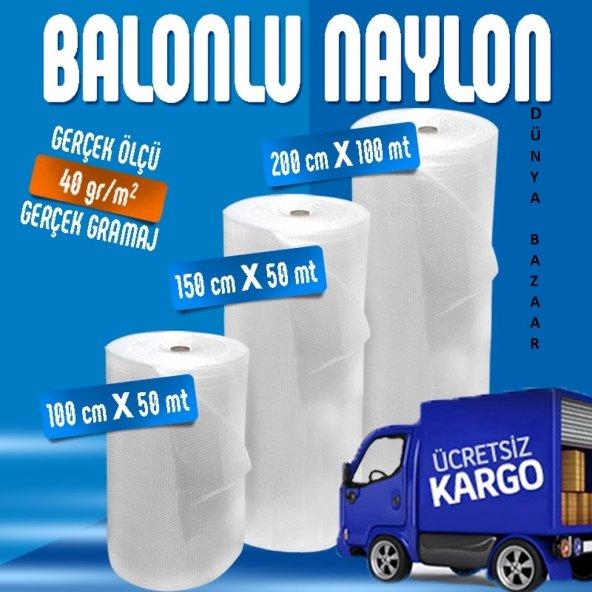 BALONLU NAYLON 150 CM X 50 MT - 40gr/m2