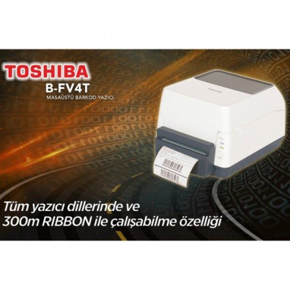 Toshiba B-FV4T Barkod Yazıcı / USB-Lan - 300Mt