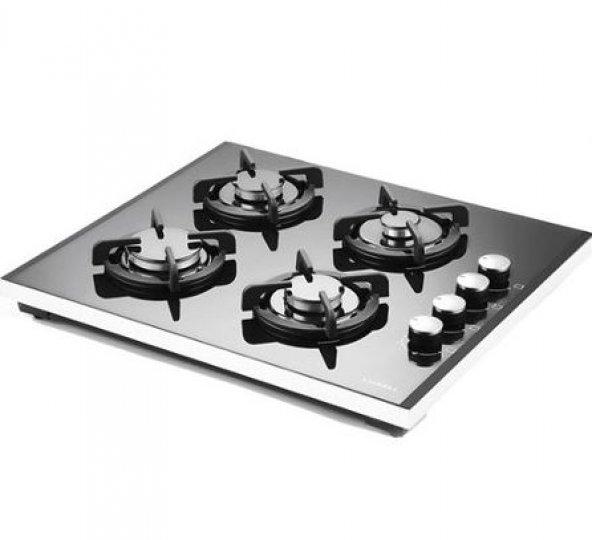 Luxell LX-40 TSHDF Setüstü Cam Ocak Siyah LPG