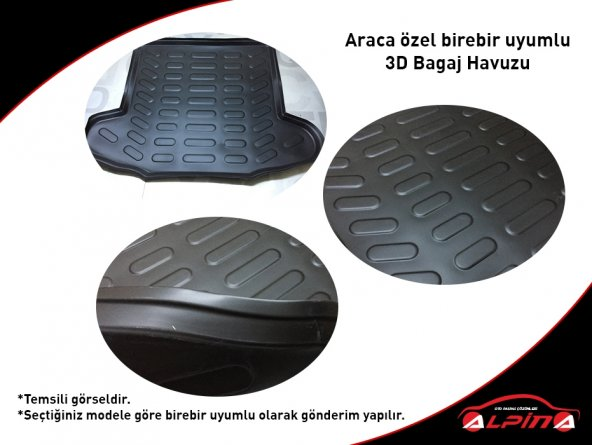 TOYOTA C-HR 3D Bagaj Havuzu