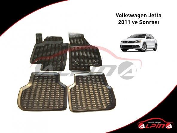 Volkswagen Jetta 2011 ve Sonrası 3D Havuzlu Paspas Araca Özel