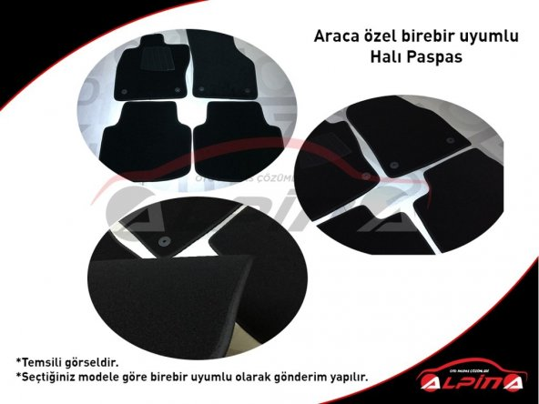 Skoda Superb 2001-2008 Halı Paspas Seti