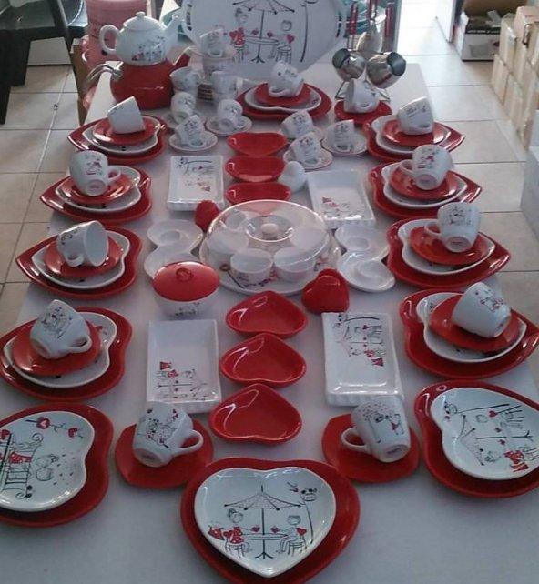 Keramika Peri Masalı Kalp Kahvaltı Takımı