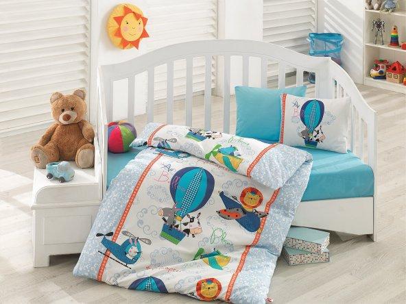 Cotton Box Uçan Dostlar Mavi Bebek Nevresim Takımı