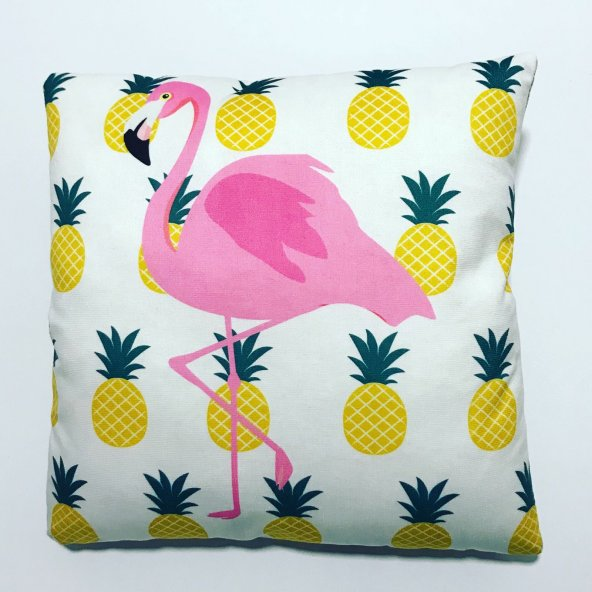 Nevresim Dünyası Kırlent Kılıfı Flamingo Pembe