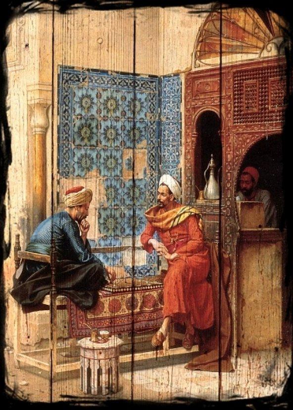 Osmanlı kafe Ahşap Eskitme Tablo Ev,cafe,ofis dekorasyonu