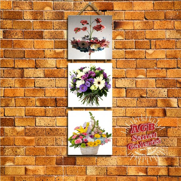 Ahşap Dekoratif Tablo Çiçek Mutfak, Cafe veya Ev dekorasyon