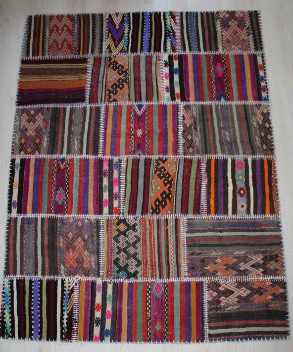 El Dokuma Patchwork Kilim 137 x 180
