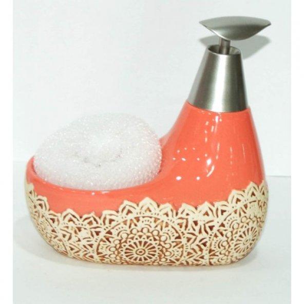 Modatools  Sıvı Sabunluk Seramik Süngerli 1248S