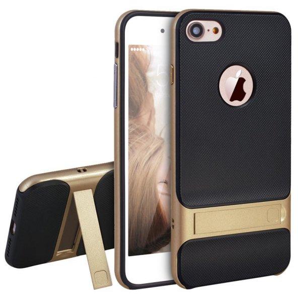 İPhone 8 Plus Gold Stantlı Kılıf