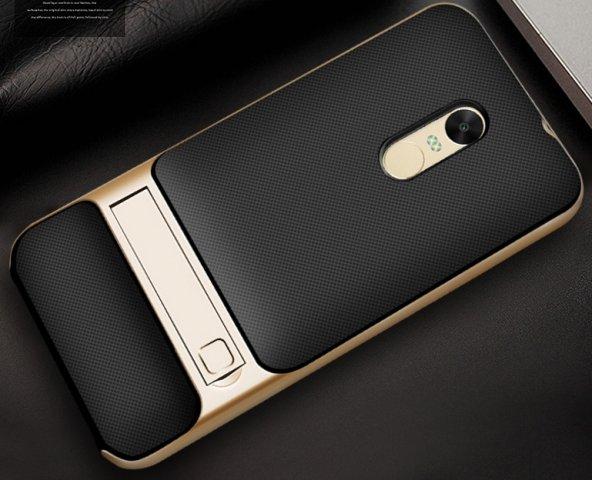 Xiaomi Redmi Note 4x Gold Stantlı Kılıf
