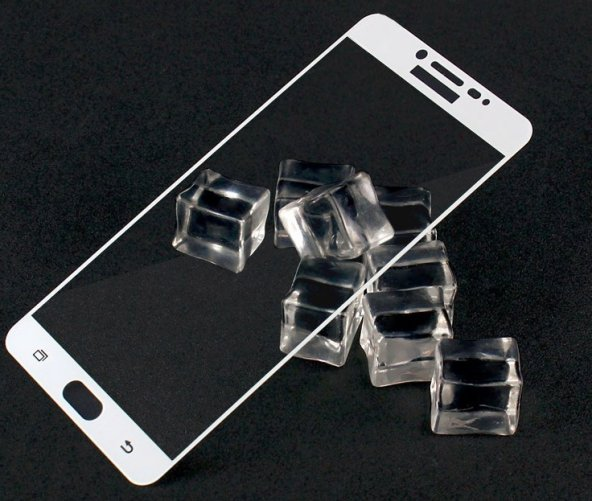 Galaxy C5 Pro Ekranı Tam Kaplayan Cam Koruyucu