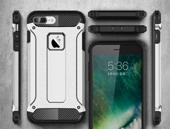Apple iphone 8 Plus Silikon Hybrid Zırh Kılıf