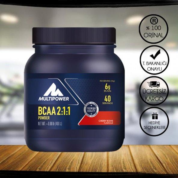 Multipower BCAA Powder 2:1:1 400Gr Kiraz Aromalı + 2 HEDİYELİ