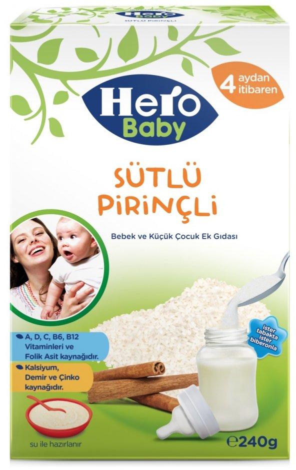 HERO BABY 200GR SÜTLÜ PİRİNÇLİ KAŞIK MAMASI