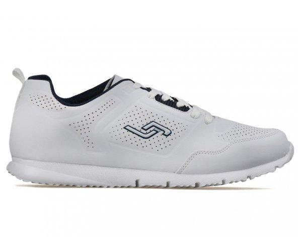 Jump 18014 2 Renk Anatomik Erkek Spor Ayakkabı Beyaz Hafif Taban