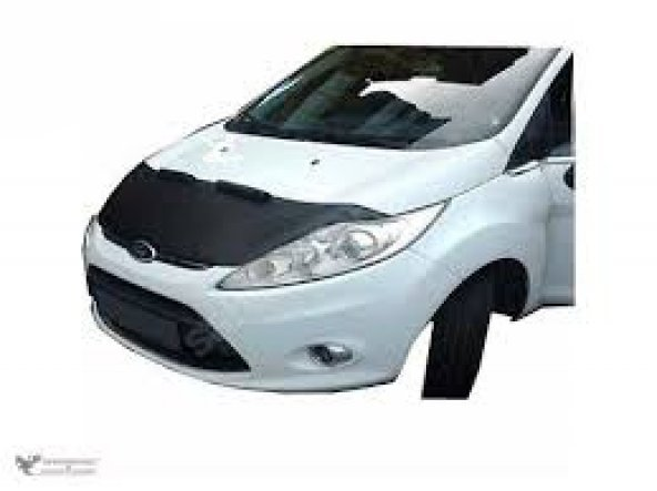 Ford Fiesta Kaput Maskesi Siyah Deri Maske 09-12