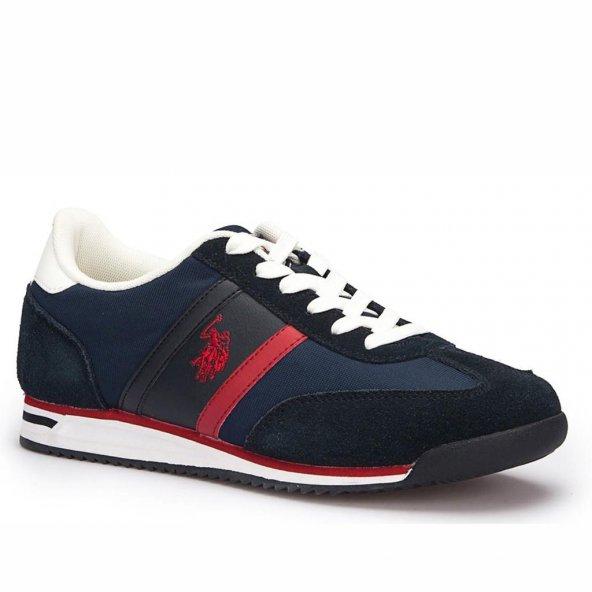 Polo Luton Erkek Lacivert-Kırmızı Sneaker