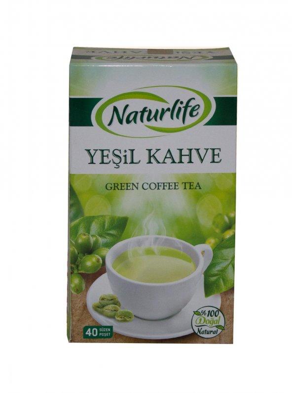 Yeşil Kahve Çayı 40lı Süzen Poşet Naturlife